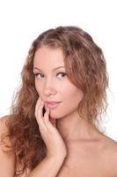 beautiful girl with nice skin