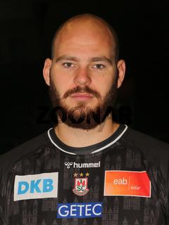Handball-Torwart Mike Jensen  SC Magdeburg HBL Liqui Moly Handball-Bundesliga Saison 2021-22