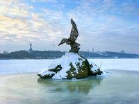 Rare bird statue Kiev Ukraine