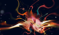 Bright flare of multicolored lines