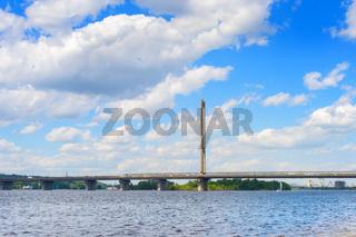 Southern bridge river Kiev, Ukraine