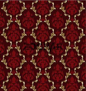Luxurious vector brocade pattern/tile