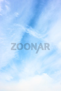 Sky with light white clouds