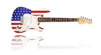 E-Gitarre, USA-Flaggendesign