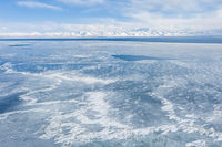 Namtso lake in winter