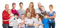 Menschen mehrerer Generationen als Familien Konzept