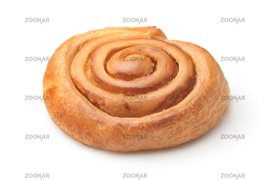Freshly baked sweet puff roll with jam