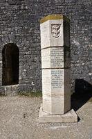 Burg Hohenneuffen, Schwäbische Alb, Gedenkstein
