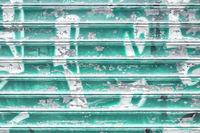 Turquoise shutter grunge