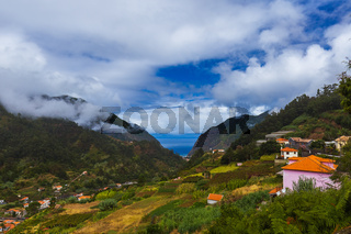 Mountains village in Madeira Portugal