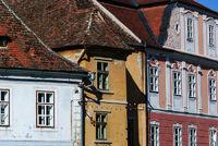 historische Gebäude ansicht sibiu rumänien
