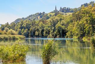 Hochrhein Buchberg-Rüdlingen, Kanton Schaffhausen, Schweiz
