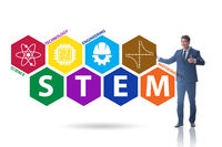 Business people in STEM education concept