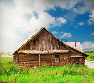 vintage wooden house