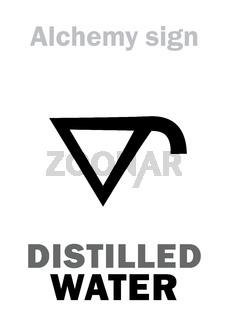 Alchemy: Distilled WATER (Aqua distillata)