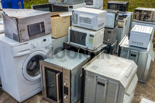 Domestic Appliances At A Recycling Centre