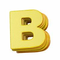 Yellow font Letter B 3D
