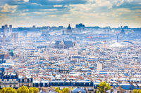 Panorama city of Paris from Montmartre