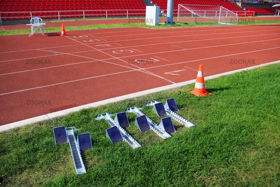 Startbloecke für die Leichtathletik