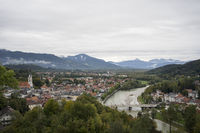 Blick vom Kalvarienberg auf Bad Tölz