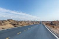 road background in desert wilderness