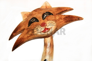 cat wood decoration