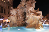 Rome, piazza Navona. Fountain of the Four Rivers
