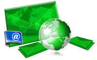 Email Concept With Green Globe