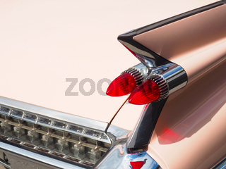 Taillight of an old vintage car