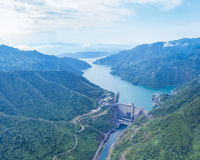 small hydroelectric station landscape