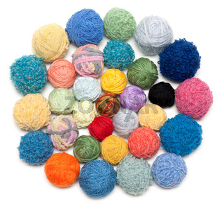 Ball of the threads for knitting