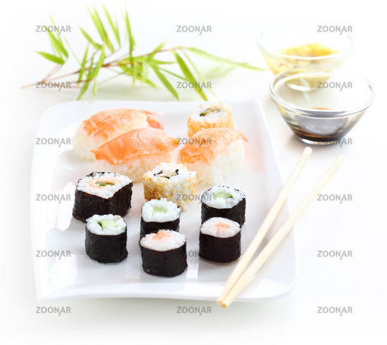 Japanese sushi food shot setting