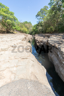 Panama, Gualaca, mini canyon of the Esti creek called Los Cangilones