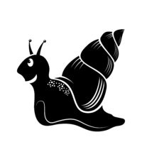 Animal Icon. Snail Logo Isolated on White Background