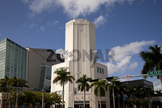 Art Deco Tower des Adrienne Arsht Center for the Performing Arts inDowntown Miami
