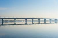 Paton bridge Dnipro river Kyiv