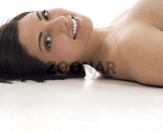 Closeup of Beautiful Woman