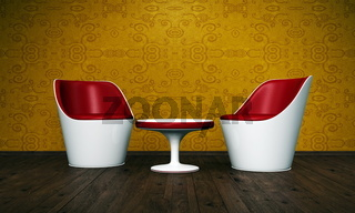 Relax Room gold red