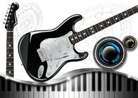Music with Piano Guitar and Woofer
