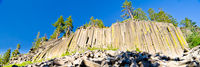 Basalt formations at Devil's Postpile National Monument near Mammoth Mountain in California