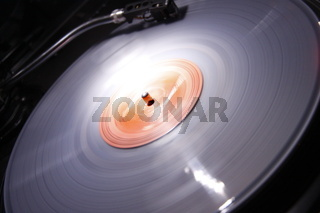 Rotierende Langspielplatte - Turntable long playing record
