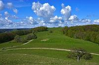 Blick vom Meisenbühl auf den Filsenberg, Schwäbische Alb