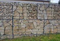 Gabbionenwand, Gabbione, Sichtschutz
