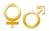 Venussymbol, Marssymbol gold