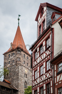 German house by fortress in Nuremberg