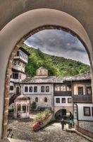 View to Bigorski Monastery St John the Baptist, ,Rostusha, North Macedonia