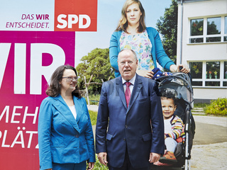 Presentation of the SPD election campaign in Berlin.