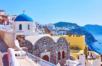 Oia town in Santorini island