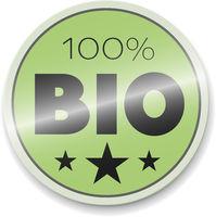glossy green 100 percent BIO sticker