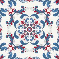 Rosemaling vector pattern 38